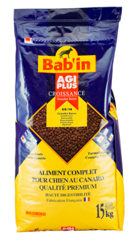Bab'in Agi Plus Croissance GR сухой корм для щенков крупных пород 15 кг
