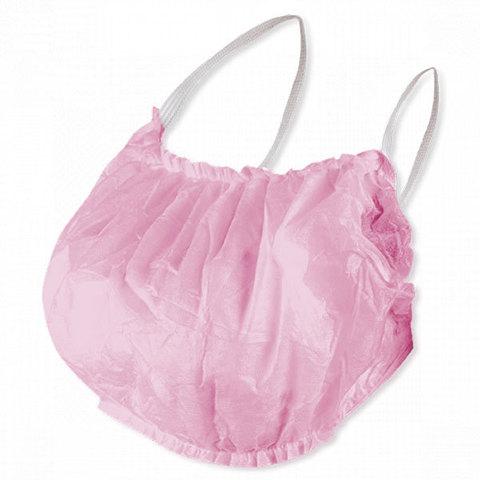 Одноразовый бюстье-топик с открытой спиной, розовый, спанбонд (уп.10шт.)