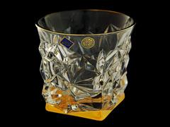 Набор из 6 хрустальных стаканов для виски Glacier, золото