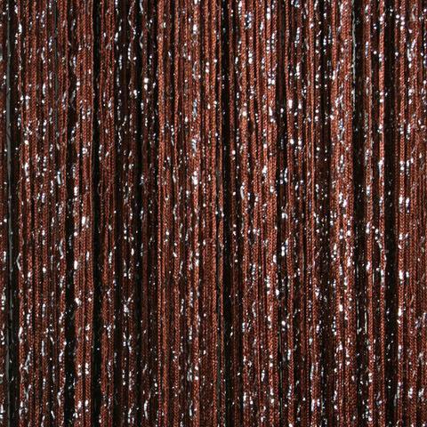 Шторы дождь однотонные - Коричневые. Ш-300см., В-280см. Арт.8