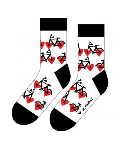 St.Friday Socks Bicycle Lovers (белые)