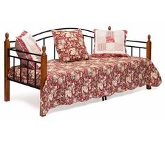 Кровать-кушетка Ландлер 200x90 (Landler) Черный/Красный дуб