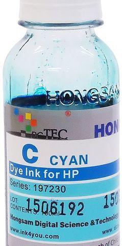 Чернила водные DCTec cyan 100 мл для плоттеров HP DJ 500/800/K550/K8400. Серия 197230