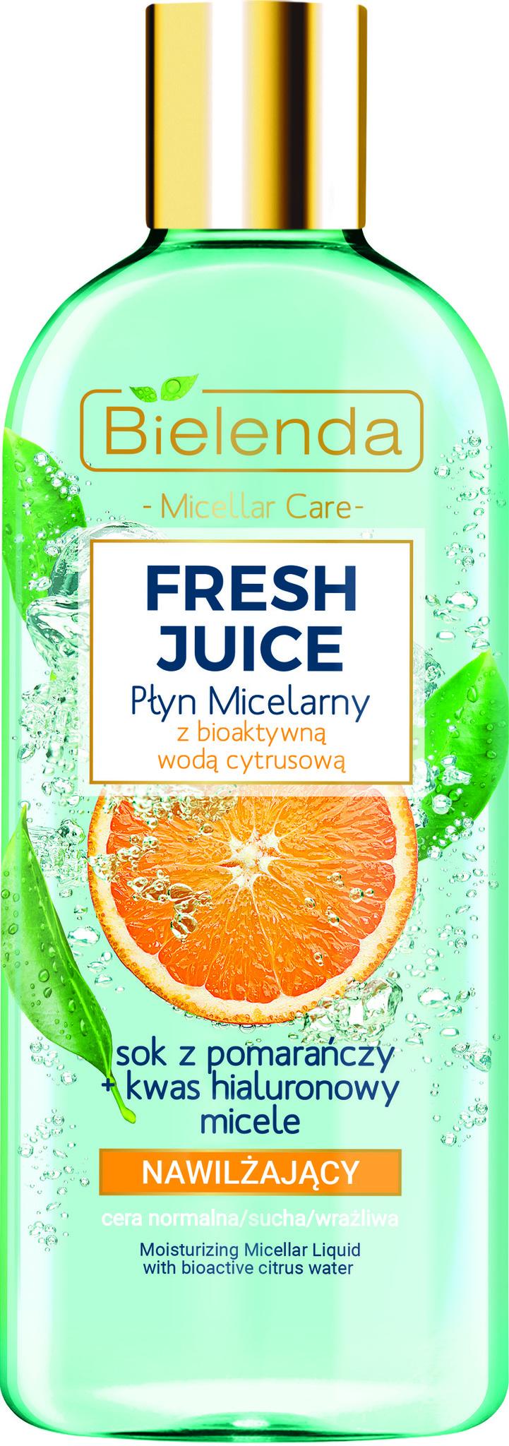 FRESH JUICE Увлажняющая мицеллярная жидкость, Апельсин, 500 мл