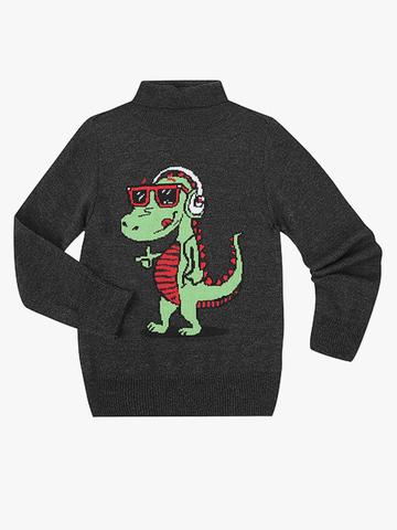 BSW001226 свитер детский, темно-серый/меланж