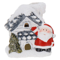 HOUSE WITH XMAS FIGURE 8CM