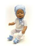 Капор - На кукле. Одежда для кукол, пупсов и мягких игрушек.