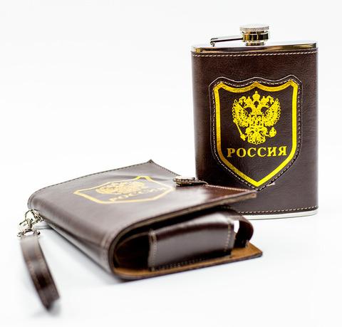Фляжка Россия, 270 мл