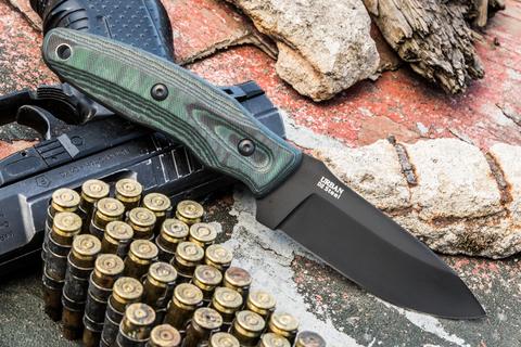 Тактический нож Urban D2 Black Titanium G10