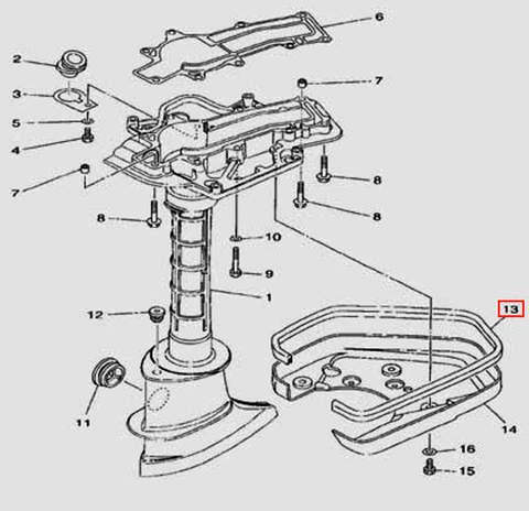 Уплотнитель L=625mm для лодочного мотора F5 Sea-PRO(17-13)