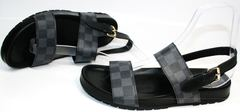 Мужские классические сандали Louis Vuitton 1008 01Blak.
