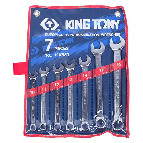KING TONY (1207MR) Набор комбинированных ключей, 10-19 мм, 7 предметов