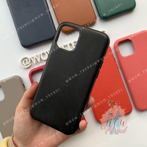 Чехол iPhone 11 Pro Max Leather Case /black/