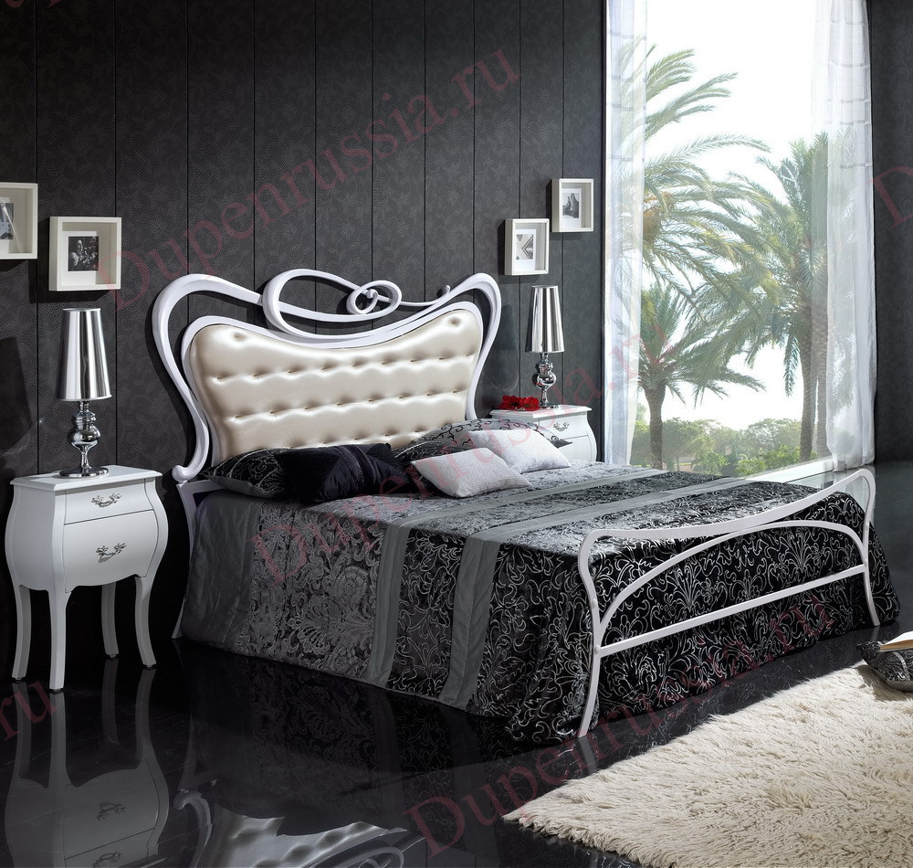 Кровать DUPEN 505 SOFIA, Тумбочка М-95 белая
