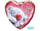 Шар сердце Me To You I Love You роза красная