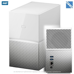 Сетевой накопитель Western Digital WD My Cloud Home Duo 20TB 2-Bay Personal Cloud NAS Server (2 x 10TB)