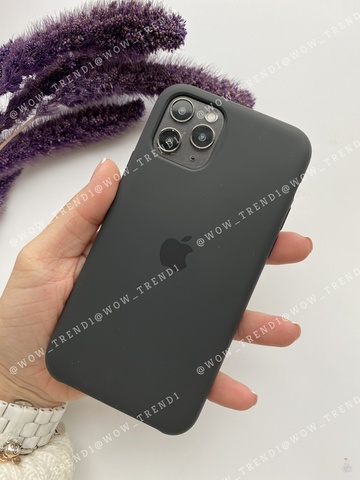 Чехол iPhone 11 Pro Max Silicone Case /black/ черный original quality