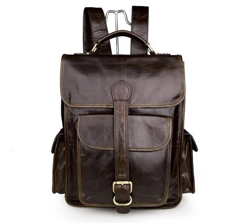 Мужской кожаный рюкзак JMD 7283