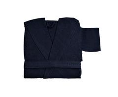 Элитный халат хлопковый Meyzer синий от Hamam
