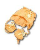 Капор - Персик. Одежда для кукол, пупсов и мягких игрушек.