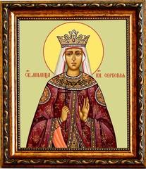 Милица (Евгения) Сербская Святая княгиня. Икона на холсте.