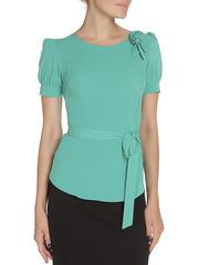 WP6502F-4 блузка женская, зеленая