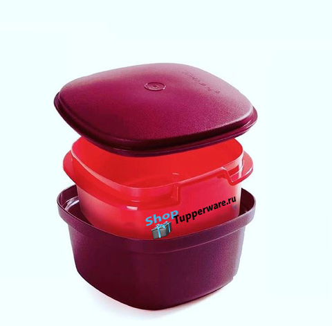 термосервирователь в красно-бордовом цвете
