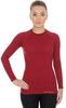 Женская терморубашка Brubeck Active Wool (LS12810) бордовая