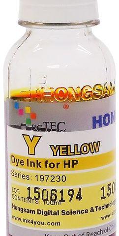 Чернила водные DCTec yellow 100 мл для плоттеров HP DJ 500/800/K550/K8400. Серия 197230