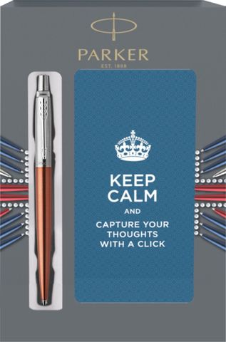 Подарочный набор с блокнотом и Шариковая ручка Parker Jotter Essential, Chelsea Orange CT