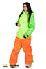 Сноубордический комбинезон Cool Zone 3в1 салат-оранжевый (2927-17) женский