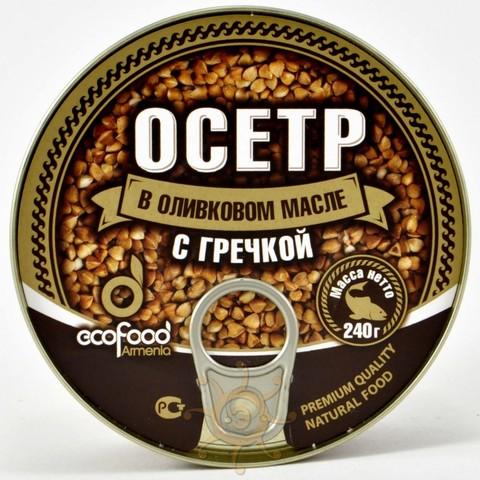 Осетр в оливковом масле с гречкой Ecofood, 240г