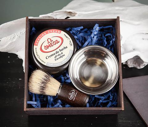 Подарочный набор из помазка, чаши и мыла для бритья