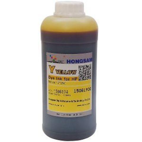 Чернила водные DCTec yellow 1000 мл для плоттеров HP DJ 500/800/K550/K8400. Серия 197230