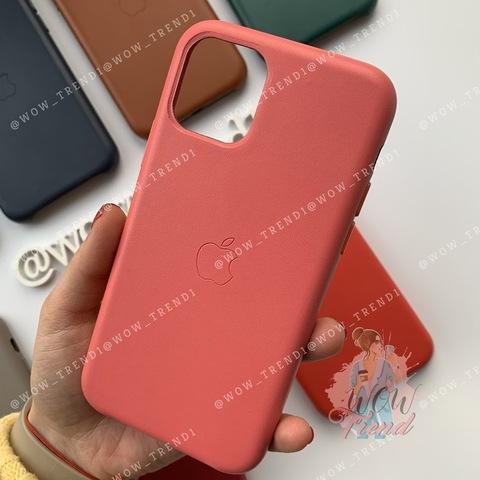 Чехол iPhone 11 Pro Max Leather Case /peony pink/