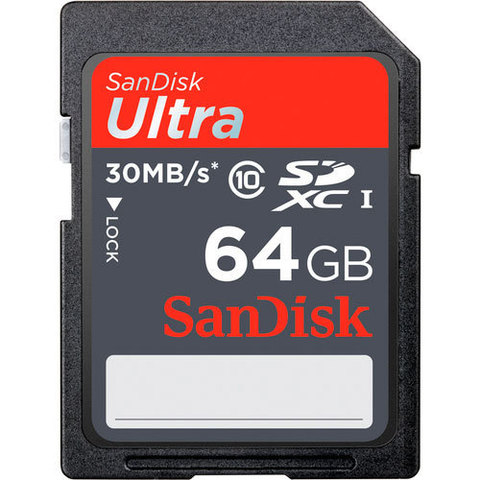 Sandisk Ultra SDHC Class 10 UHS-I 30MB/s 64Gb