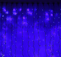 Гирлянда светодиодный занавес синяя, 2x3 м, LED-760-220V