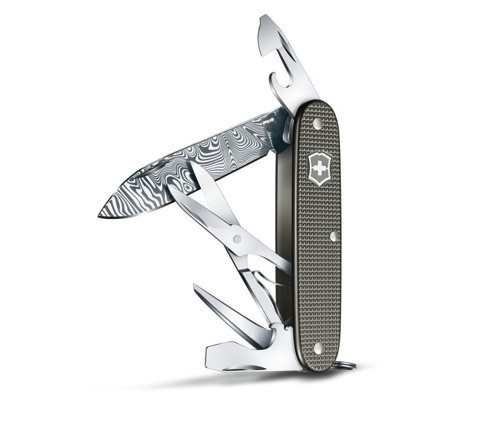 Складной нож Victorinox Pioneer X Damast Limited Edition 2016 (0.8231.J16) Лезвие из дамасской стали! Подарочная упаковка! - Wenger-Victorinox.Ru