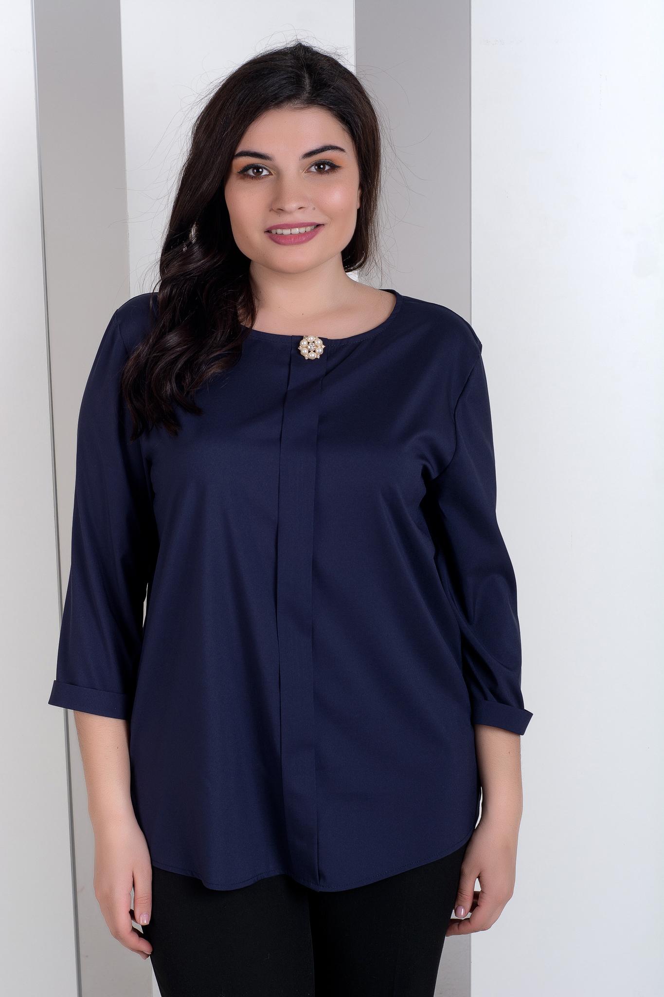 ad3ef3a36a6 Лиза. Стильная блуза больших размеров. Синий – купить в интернет ...