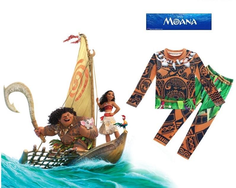 Моана костюм для мальчика Мауи