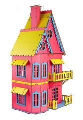 Кукольный домик розовый