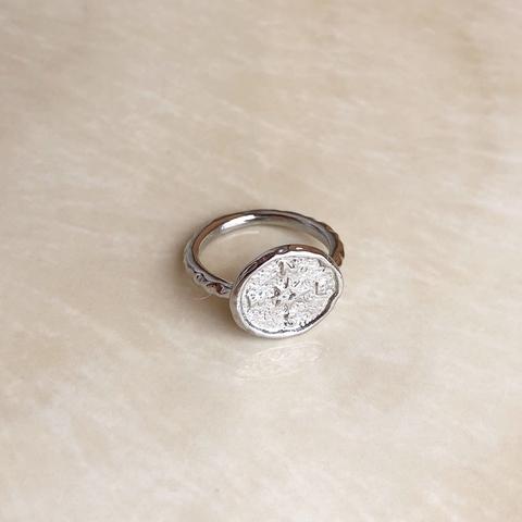 Кольцо Компас, серебряный цвет