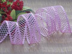 Лента-сеточка розовая ширина 22 мм