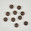 """Бусина металлическая - рондель """"Кружочки"""" (цвет - античная медь) 6х4 мм, 10 штук"""