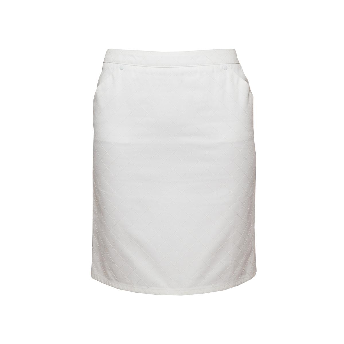 Стильная юбка из хлопка белого цвета от Chanel, 38 размер.