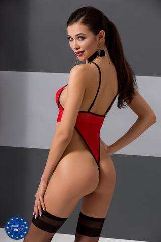 Красное эротическое боди