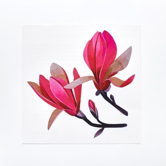 Переводная татуировка  Magnolia