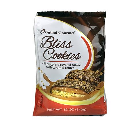 OG BLISS COOKIE Печенье с карамелью покрытое молоч. шоколадом и крошками печенья 1кор*1бл*6шт 340гр.