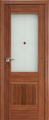 > Экошпон Profil Doors №2Х-Классика, стекло узор, цвет орех амари, остекленная
