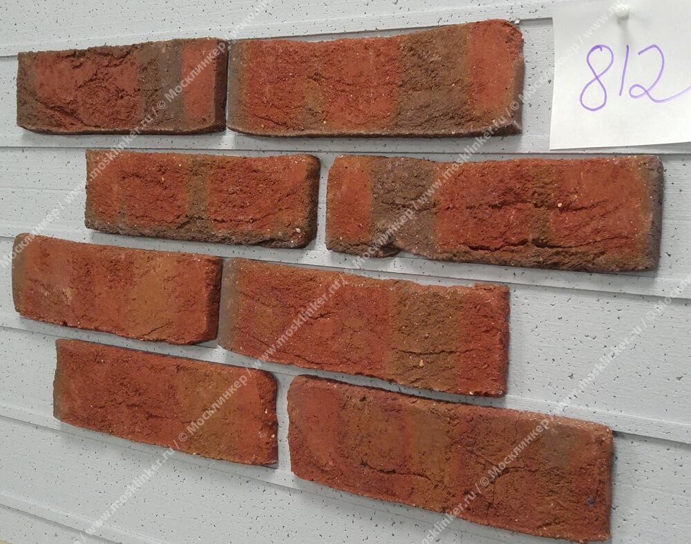 Roben, облицовочная клинкерная плитка под старину, Wasserstrich, огненнопестрый (buntgeflammt), NF